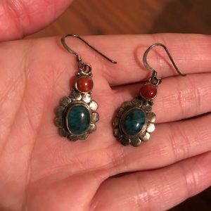 Jewelry - Turquoise Coral earrings